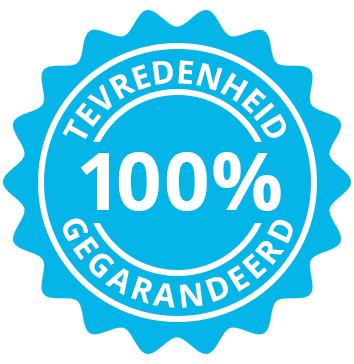 100% Satisfaction Gegarandeerd